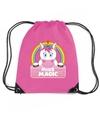 Miss magic eenhoorn rugtas gymtas roze voor kinderen