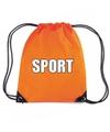 Oranje sport rugtasje gymtasje kinderen