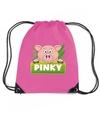 Pinky the pig varkens rugtas gymtas roze voor kinderen