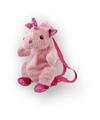 Pluche roze eenhoorn rugtas 33 x 18 cm