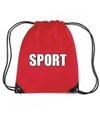Rood sport rugtasje gymtasje kinderen