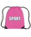 Roze sport rugtasje gymtasje kinderen