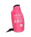 Roze waterdichte tas 10 liter