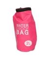 Roze waterdichte tas 2 liter