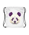 Rugtas met rijgkoord en panda print