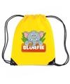 Slurfie de olifant rugtas gymtas geel voor kinderen