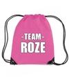 Sportdag team roze rugtas sporttas