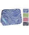 Toilettas zebraprint groen 30 x 21 x 10 cm