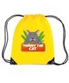 Tommy the cat katten rugtas gymtas geel voor kinderen