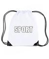Wit sport rugtasje gymtasje kinderen