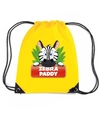 Zebra paddy rugtas gymtas geel voor kinderen