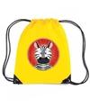 Zebra rugtas gymtas geel voor kinderen